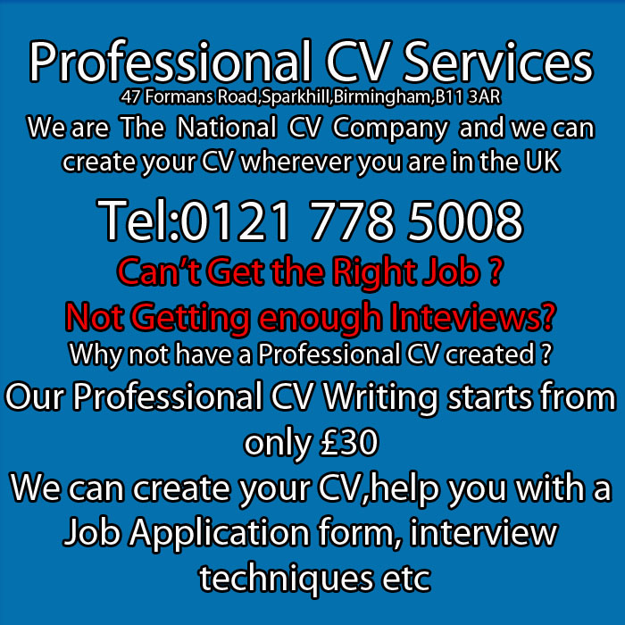 cv writing service birmingham uk hotels